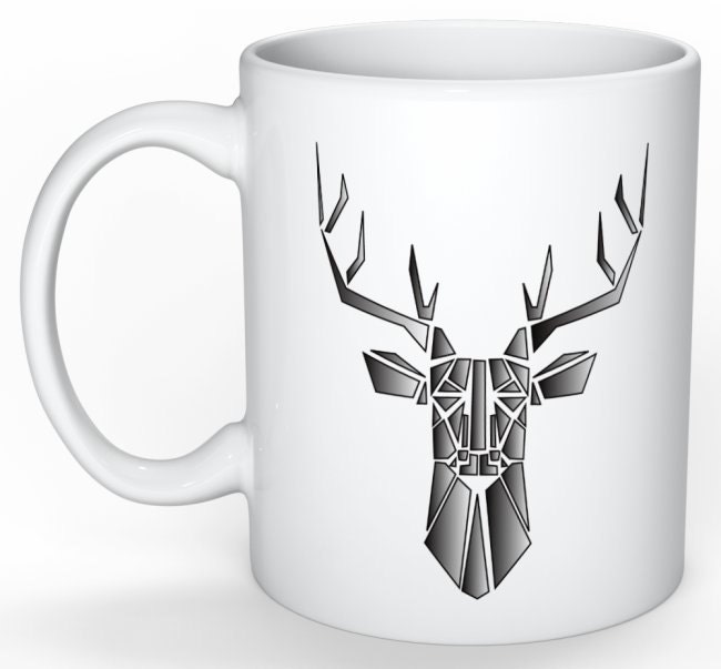 mug personnalis mug cerf cerf origami id e cadeau. Black Bedroom Furniture Sets. Home Design Ideas