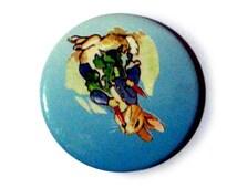 Vintage Peter Rabbit Button Badge Beatrix Potter Pin Brooch Childrens Story Book Illustration