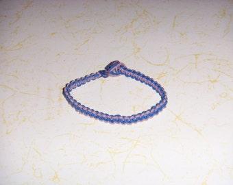Blue/Lavender Hemp Bracelet