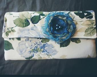 Handmade Floral Clutch