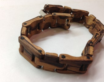 Bracelet wood zebrano