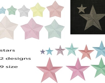 Machine embroidery designs. Star embroidery design  Stars  Design.  Embroidery star. Embroidery Frame. Instant Download.