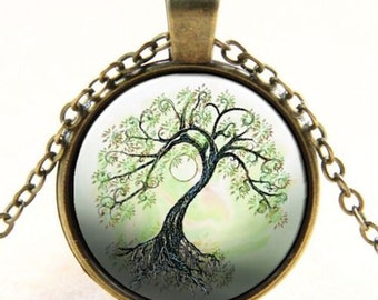 Personalized tree of life pendant