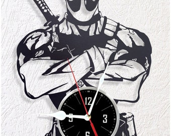 Deadpool wooden wall clock