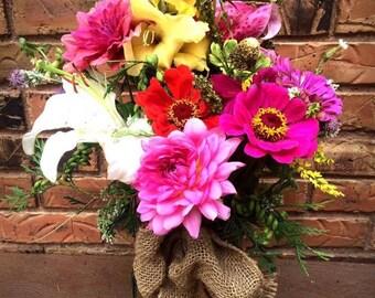 Medium Fresh Cut Flower Garden Bouquet