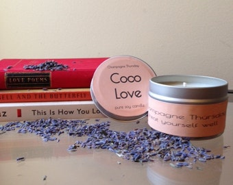Coco Love Soy Candle, 4oz.