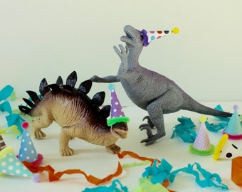 Mini Party Hats for Dinosaur Figurine Toys