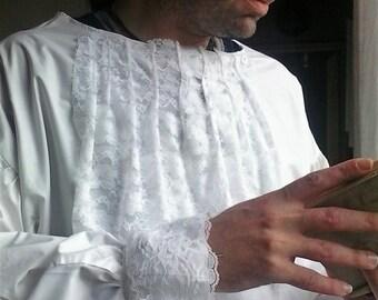Pirate/Gothic/Halloween/Georgian/Larp/Fancy dress/cuff shirt with extra necktie