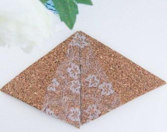 Triangle lace coaster cork
