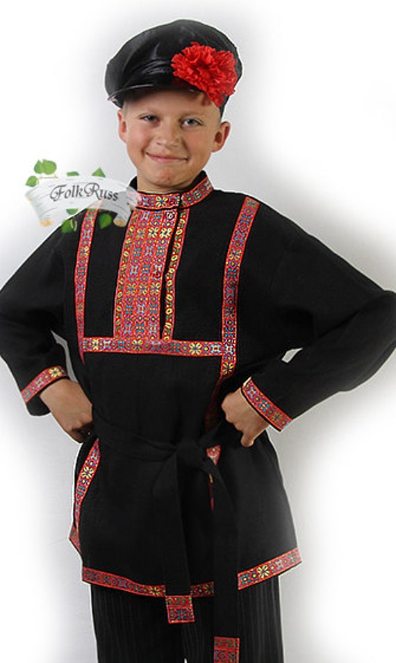 Russian traditional slavic linen shirt Kosovorotka