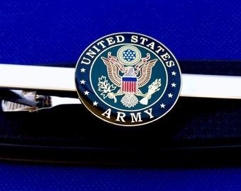 Army tie clip U.S. Army Tie clasp U.S. Military logo tie clasp gift idea