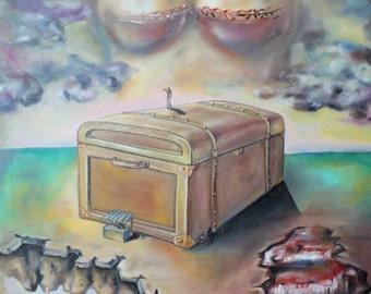 Original Oil Painting - The Memories Box