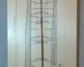111 W. 57th St. Wood Print