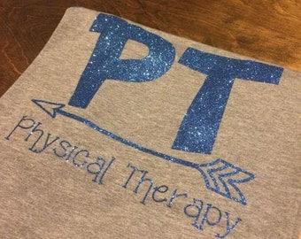 Physical Therapy baseball tee