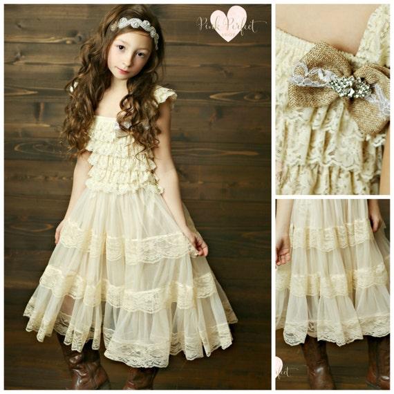 Lace Flower Girl Dress Flower Girl Dresses Country Flower
