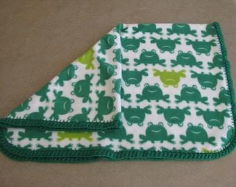 Fleece frogs blanket