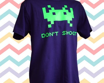 Space Invader Purple T-Shirt