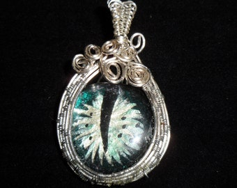 Wrap Dragons Eye Pendant