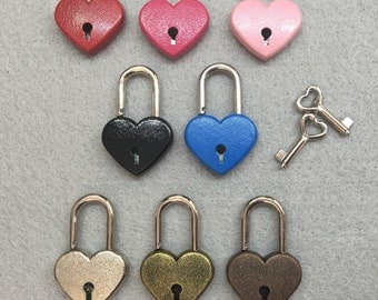 Heart Padlock- New Colors Available!
