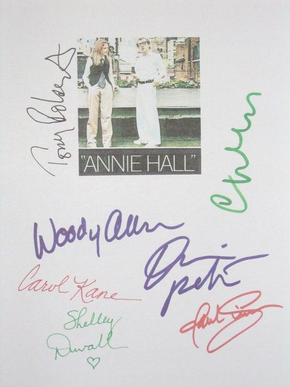 Annie Hall Signed Script Screenplay X7 Woody Allen Diane Keaton Tony Roberts Christopher Walken Shelley Duvall Paul SimonCarol Kane autos