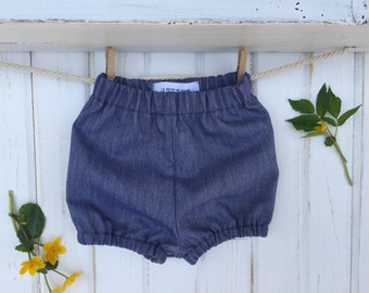 BALANCE - Bloomers/cache layer for girl, pattern denim blue