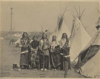 Little Sunday - Eagle Elk - Prairie Dog - Sioux - Frank Rinehart - 1898 - Photo - Print - Vintage - Native American - Photograph - History