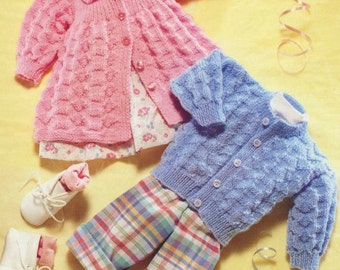 Baby Matinee And Jacket, Knitting Pattern. PDF Instant Download.