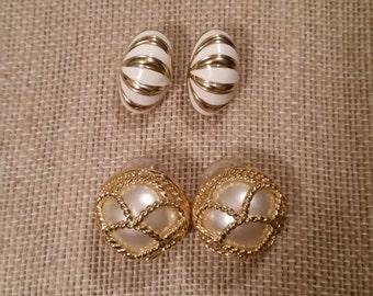 2 pairs of vintage Joan Rivers earrings
