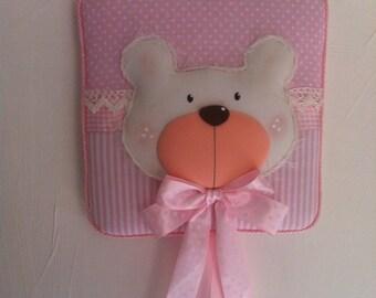 Stitchable pink Teddy bear