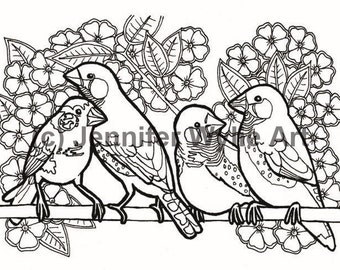 zebra finches coloring page colouring page coloring book printable adult coloring hand