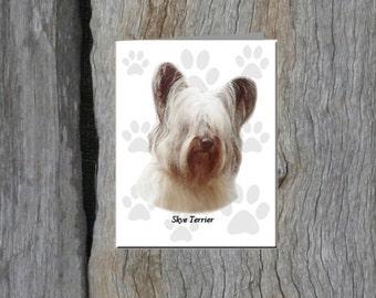 Skye Terrier Note Cards