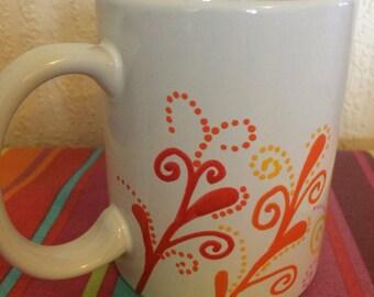 Swirls and dots mug