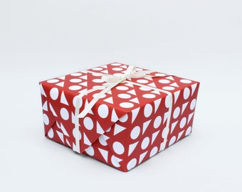 Toy Box Wrapping Paper - Red