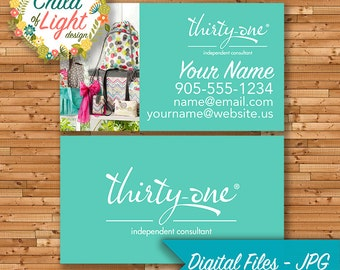 Thirty-One Business Cards - Independent Cards - Custom Business Card - 31 Bags - Personalized Cards - Print Your Own on Vistaprint