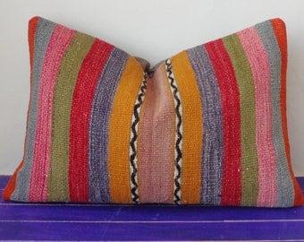 16x24 kilim pillow large lumbar pillow cover - 256b