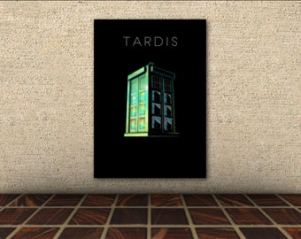 Doctor Who Poster [Black] - Galaxy Pearl TARDIS