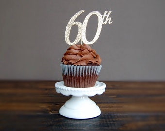 Cupcake toppers 60th birthday,sixty birthday, 60 birthday decorations, 60th decorations, birthday decoration, cupcake toppers
