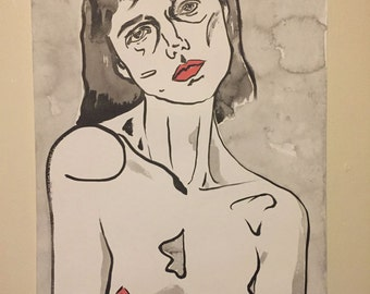 self portrait with shoulders