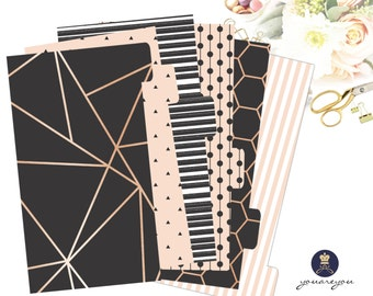 Planner Dividers Personal size, A5 Planner Dividers set of 6, Fall Planner Dividers