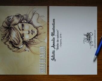 "Postcard ""Belle of Saloon"""