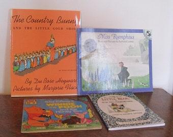 Books, Children's Books, Paperback Books, Set of 4 Children's Books