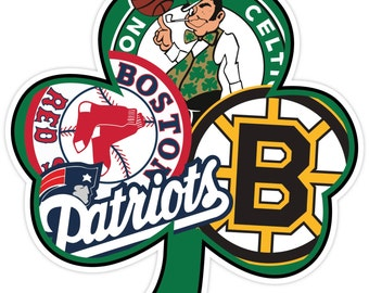 Boston Fan Sport Teams Red Sox Bruins Celtics Patriots Vinyl Sticker Decal