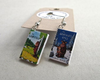 "The Gruffalo Book Earrings from ""The Earring Library"""