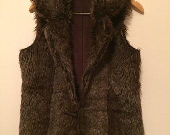 Reversible Brown Fur Vest