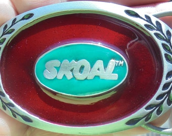 Skoal oval belt buckle