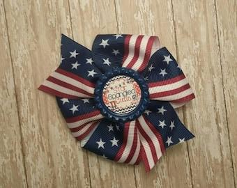 4th of july pinwheel bow