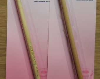 Water soluble fabric pencils