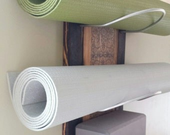 "3 Tier Yoga mat Holders - Wall mounted (24"")"