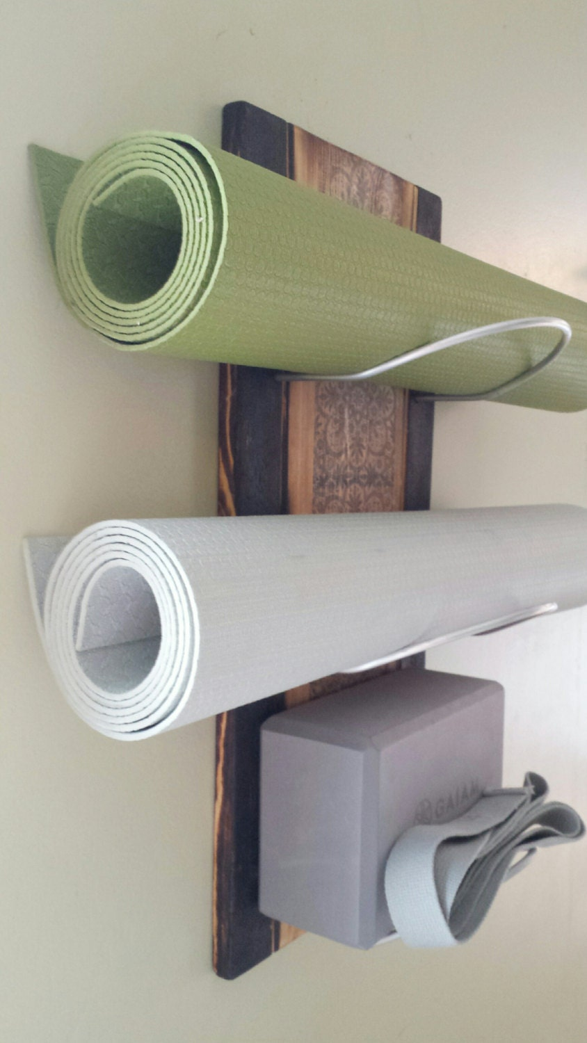 3 Tier Cobalt Ash Ii Wall Mounted Yoga Mat Holder Yoga