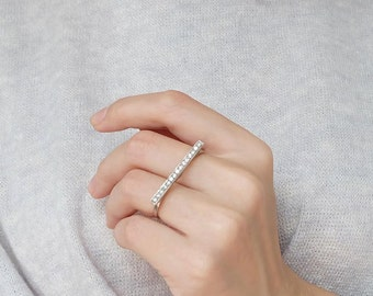 double finger band ring cz, adjustable ring, double band ring, double bar ring, double finger ring, two finger ring, double rings